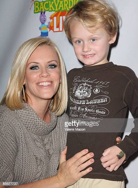 Actress Jenny McCarthy and her son Evan Asher attend the Breakfast Benefit For Malaria No More on November 1 2008 in Los Angeles California