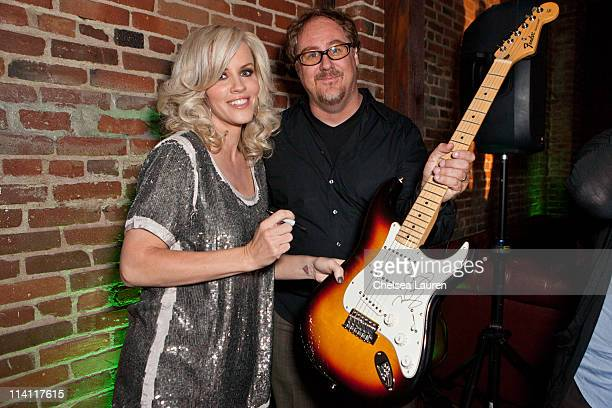Actress Jenny McCarthy and Music Saves Lives founder Russel Hornbeek inside of the Music Saves Lives 2011 Awareness Campaign kick off party at Next...