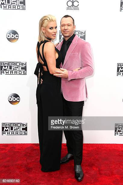 Actress Jenny McCarthy and recording artist Donnie Wahlberg attend the 2016 American Music Awards at Microsoft Theater on November 20 2016 in Los...