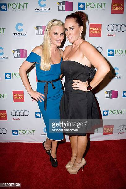 Actress Jenny McCarthy and sister Joanne McCarthy attend Point Foundation's Voices On Point Gala at The Wiltern on September 15 2012 in Los Angeles...