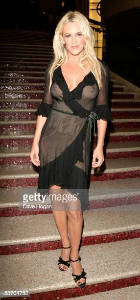 Actress Jenny McCarthy arrives at the 2005 World Music Awards at the Kodak Theatre on August 31 2005 in Hollywood California