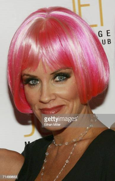 Actress Jenny McCarthy arrives at the Jet Nightclub at The Mirage Hotel Casino for her sister Amy McCarthy's birthday party July 21 2006 in Las Vegas...