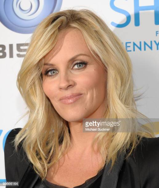 Actress Jenny McCarthy arrives at the Oxygen TV and Ubisoft Launch of ''Your Shape'' Featuring Jenny McCarthy at Hyde Lounge on December 2 2009 in...