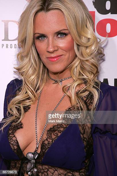Actress Jenny McCarthy arrives at the premiere of Dirty Love at the ArcLight Cinerama Dome on September 19 2005 in Hollywood California