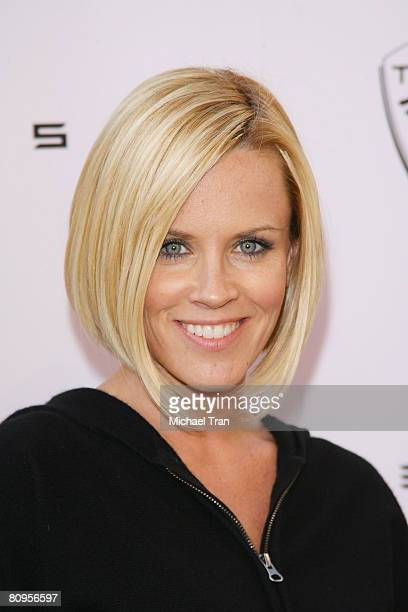 Actress Jenny McCarthy arrives at the Tesla Motors flagship store opening held on May 1 2008 in Los Angeles California