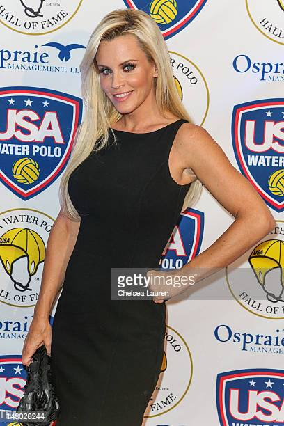 Actress Jenny McCarthy arrives at the US Olympic water polo teams official sendoff at InterContinental Hotel on July 7 2012 in Century City California