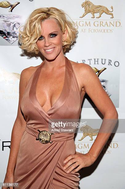 Actress Jenny McCarthy attends the party at Diddy's Den during the Opening of MGM Grand at Foxwoods Resort Casino on May 17 2008 in Ledyard...