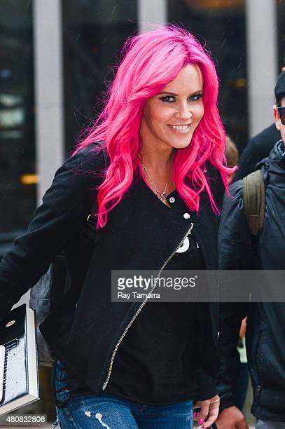 Actress Jenny McCarthy leaves the Sirius XM Studios on July 15 2015 in New York City