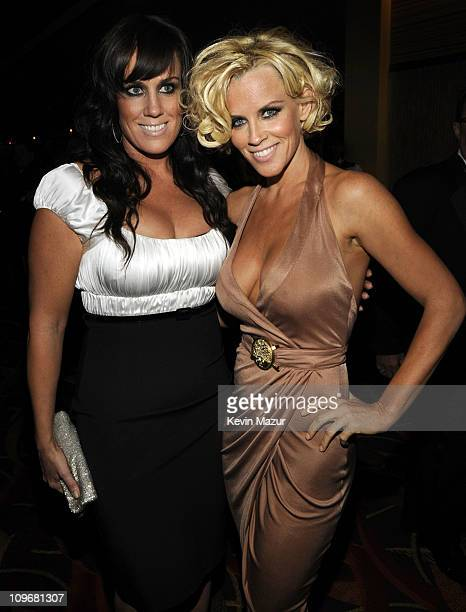 Actress Jenny McCarthy poses backstage during the Grand Opening Weekend Celebration at MGM Grand at Foxwoods Resort Casino on May 17 2008 in Ledyard...