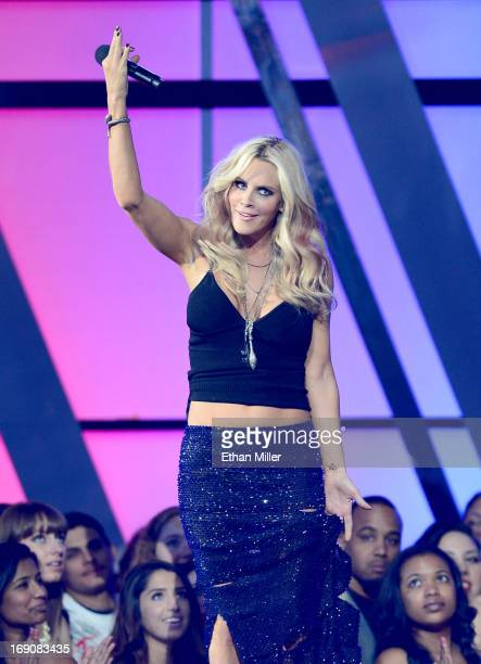 Actress Jenny McCarthy speaks onstage during the 2013 Billboard Music Awards at the MGM Grand Garden Arena on May 19 2013 in Las Vegas Nevada