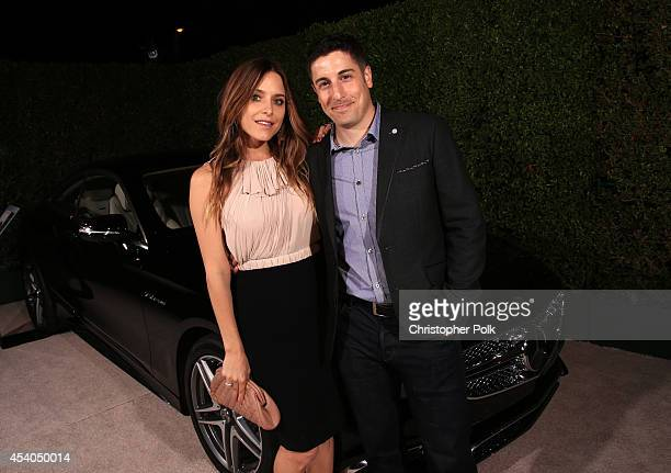Actress Jenny Mollen and actor Jason Biggs attend Variety and Women in Film Emmy Nominee Celebration powered by Samsung Galaxy on August 23 2014 in...