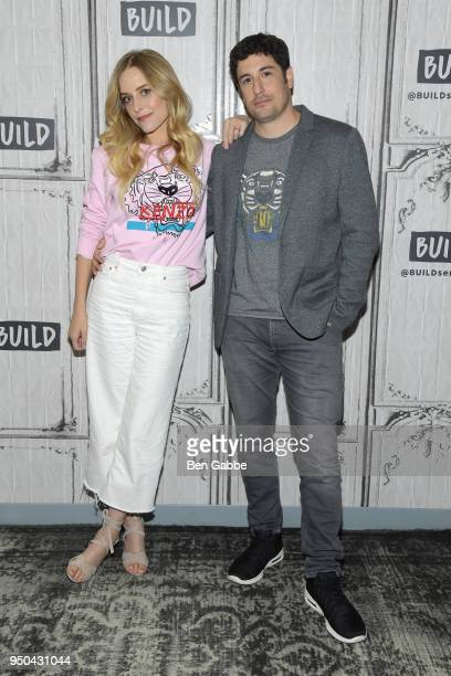 Actress Jenny Mollen and actor Jason Biggs visit the Build Series to discuss the game show To Dust at Build Studio on April 23 2018 in New York City