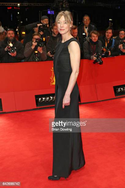Actress Jenny Schily arrives for the closing ceremony of the 67th Berlinale International Film Festival Berlin at Berlinale Palace on February 18...