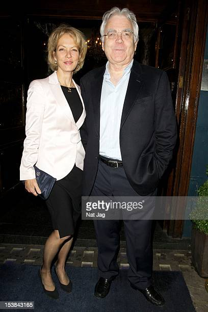 """Actress Jenny Seagrove and producer Bill Kenwright sighting at the aftershow party for """"Cabaret"""" at Cafe de Paris on October 9, 2012 in London,..."""