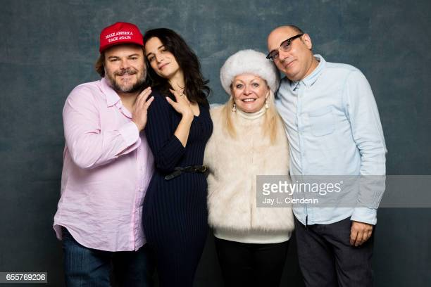 Actress Jenny Slate actor Jack Black actress Jacki Weaver actor Willie Garson from the film The Polka King are photographed at the 2017 Sundance Film...
