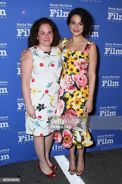 Actress Jenny Slate and Abby Slate attend the Virtuosos Award at the 30th Santa Barbara International Film Festival at the Arlington Theater on...