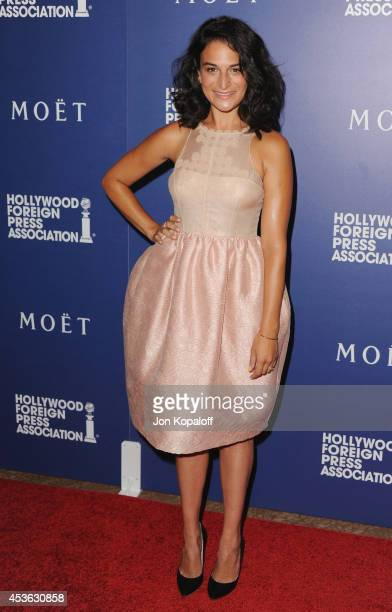Actress Jenny Slate arrives at The Hollywood Foreign Press Association Installation Dinner at The Beverly Hilton Hotel on August 14 2014 in Beverly...