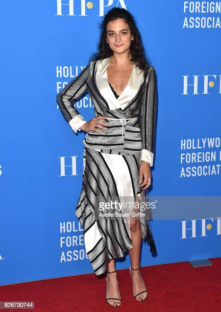 Actress Jenny Slate arrives at the Hollywood Foreign Press Association's Grants Banquet at the Beverly Wilshire Four Seasons Hotel on August 2 2017...