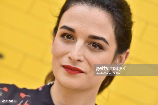 Actress Jenny Slate arrives at the premiere of Warner Bros Pictures' 'The LEGO Batman Movie' at Regency Village Theatre on February 4 2017 in...