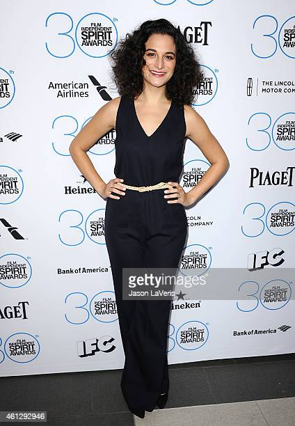 Actress Jenny Slate attends the 2015 Film Independent Filmmaker Grant and Spirit Awards nominees brunch at BOA Steakhouse on January 10 2015 in West...