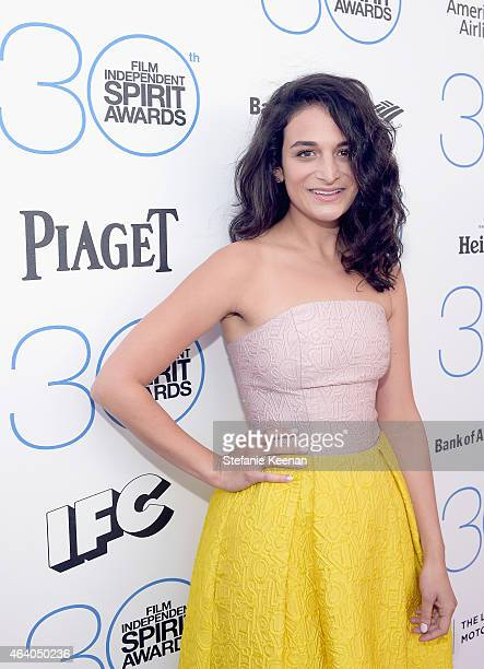 Actress Jenny Slate attends the 30th Annual Film Independent Spirit Awards at Santa Monica Beach on February 21 2015 in Santa Monica California