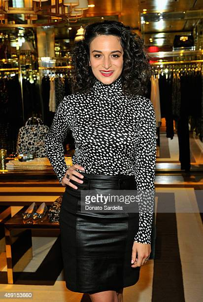 Actress Jenny Slate attends the dinner hosted by Krista Smith for Jenny Slate at the Tory Burch Rodeo Flagship on November 17 2014 in Beverly Hills...