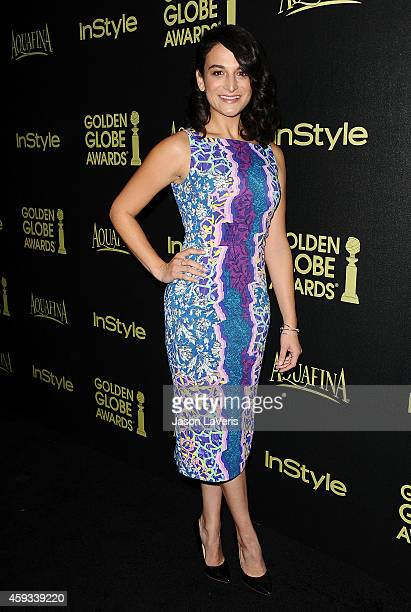 Actress Jenny Slate attends the Hollywood Foreign Press Association and InStyle's celebration of the 2015 Golden Globe award season at Fig Olive...