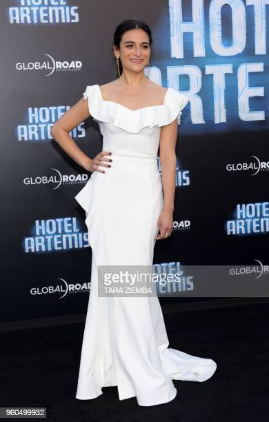 Actress Jenny Slate attends the Los Angeles premiere of 'Hotel Artemis' on May 19, 2018 in Westwood Village, California.