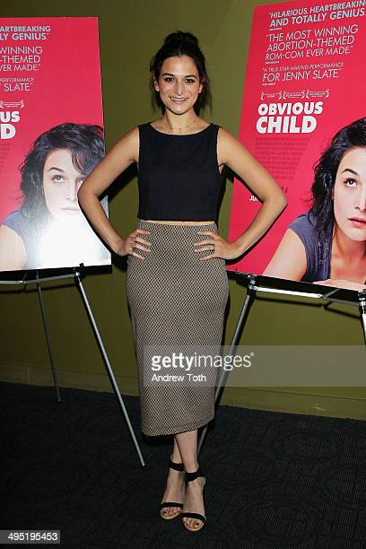 Actress Jenny Slate attends the Obvious Child special screening on June 1 2014 in New York City