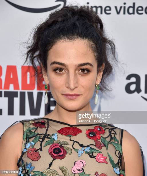 "Actress Jenny Slate attends the premiere of Amazon's ""Comrade Detective"" at ArcLight Hollywood on August 3, 2017 in Hollywood, California."