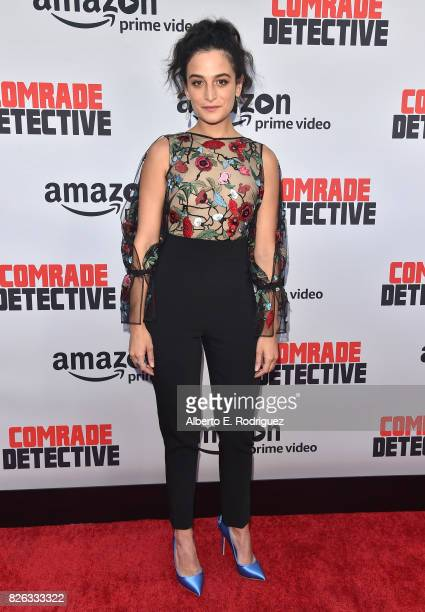 Actress Jenny Slate attends the premiere of Amazon's Comrade Detective at ArcLight Hollywood on August 3 2017 in Hollywood California