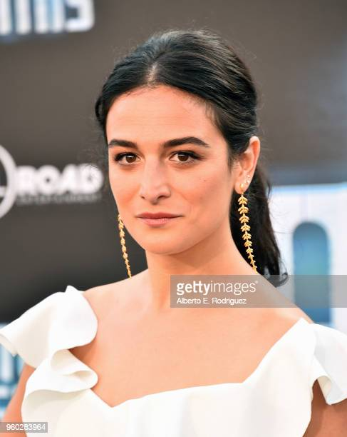 Actress Jenny Slate attends the premiere of Global Road Entertainment's Hotel Artemis at Regency Village Theatre on May 19 2018 in Westwood California