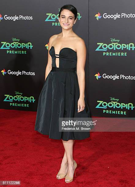 Actress Jenny Slate attends the Premiere of Walt Disney Animation Studios' 'Zootopia' at the El Capitan Theatre on February 17 2016 in Hollywood...