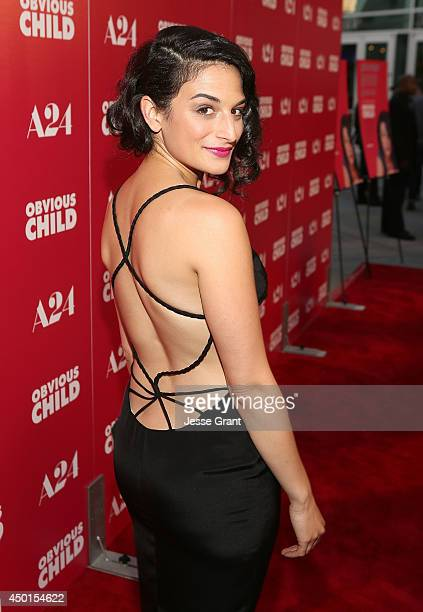 """Actress Jenny Slate attends the Screening of A24's """"Obvious Child"""" at the ArcLight Hollywood on June 5, 2014 in Hollywood, California."""