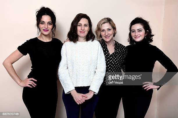 Actress Jenny Slate filmmaker Gillian Robespierre and actresses Edie Falco and Abby Quinn from the film 'Landline' pose for a portrait in the...