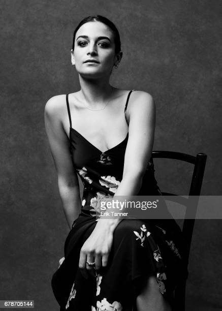 Actress Jenny Slate from 'Aardvark' poses at the 2017 Tribeca Film Festival portrait studio on April 21 2017 in New York City