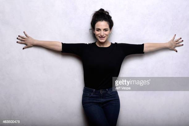 Actress Jenny Slate poses for a portrait during the 2014 Sundance Film Festival at the WireImage Portrait Studio at the Village At The Lift Presented...