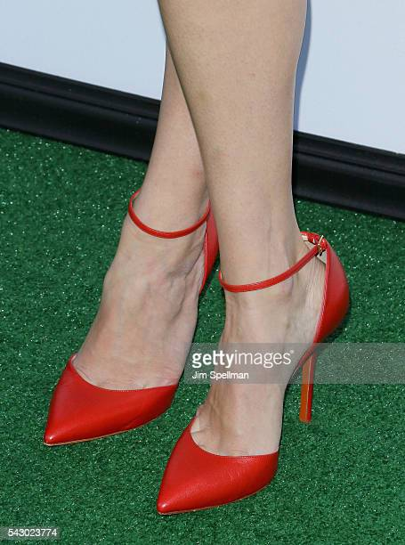 Actress Jenny Slate shoe detail attends the 'Secret Life Of Pets' New York premiere on June 25 2016 in New York City