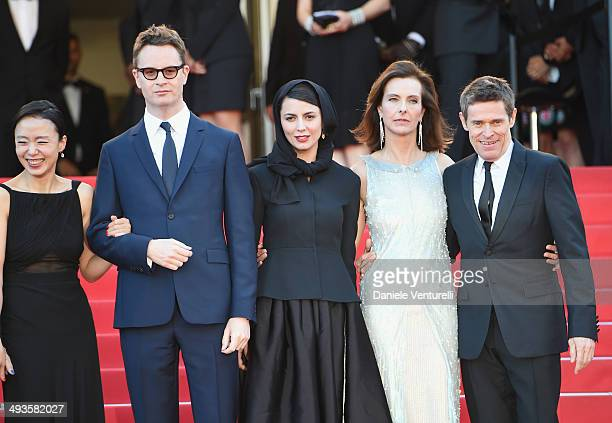 Actress Jeon Doyeon director Nicolas Winding Refn actress Leila Hatami Carole Bouquet and actor Willem Dafoe attend the Closing Ceremony and 'A...