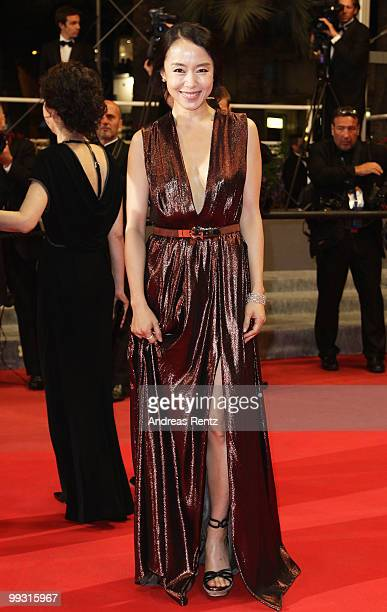 Actress Jeon DoYoun attends 'The Housemaid' Premiere at the Palais des Festivals during the 63rd Annual Cannes Film Festival on May 14 2010 in Cannes...
