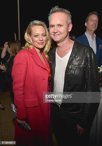 Actress Jeri Ryan and Head of Amazon Studios Roy Price attend Amazon Red Carpet Premiere Screening For Season Two Of Original Drama Series 'Bosch' on...