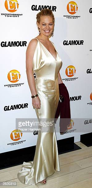Actress Jeri Ryan arrives at the Entertainment Tonight Emmy Party Sponsored by GLAMOUR held at the Mondrian on September 21, 2003 in Hollywood...