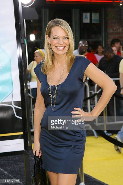 Actress Jeri Ryan arrives at the Los Angeles Premiere of Bee Movie held at the Mann Bruin Theatre on October 28 2007 in Westwood California