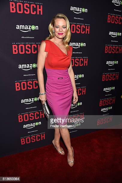 Actress Jeri Ryan arrives at the Premiere Of Amazon's 'Bosch' Season 2 at SilverScreen Theater at the Pacific Design Center on March 3 2016 in West...