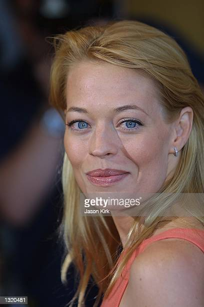 """Actress Jeri Ryan arrives at the world premiere of the film """"Lara Croft: Tomb Raider"""" June 11, 2001 in Westwood, CA."""