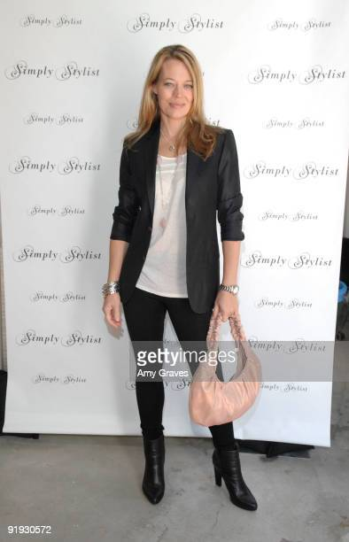 Actress Jeri Ryan at day two of the Simply Stylists by Caro Marketing event at Siren Orange Studios on October 15 2009 in Los Angeles California