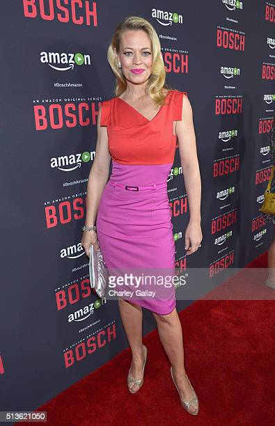 Actress Jeri Ryan attends Amazon Red Carpet Premiere Screening For Season Two Of Original Drama Series 'Bosch' on March 3 2016 in Los Angeles...