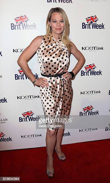 Actress Jeri Ryan attends BritWeek's 10th Anniversary with a performance of Muder Lust and Madness at the Wallis Annenberg Center for the Performing...