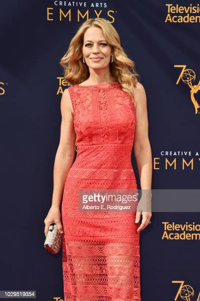 Actress Jeri Ryan attends the 2018 Creative Arts Emmy Awards at Microsoft Theater on September 8 2018 in Los Angeles California