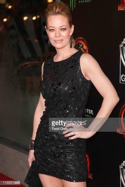 "Actress Jeri Ryan attends the ""Mortal Kombat Legacy"" digital series premiere celebration at Saint Felix II on April 14, 2011 in Hollywood, California."